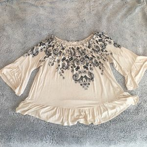 Style & Co Off the Shoulder Floral Blouse